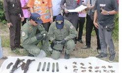 ทหารสัตหีบพบอาวุธสงครามหลายชนิด-กระสุนอื้อ