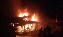 ไฟไหม้ตลาดเบญจวรรณโรงเกลือ วอดแล้วกว่า 8 ล็อค