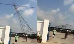 ชาวบ้านตื่น คลิปเสาไฟฟ้าล้มโค่น