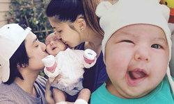 จ้ำม่ำน่ารัก น้องเอวาลีน ลูกสาวเจนนี่ อั๋น ครบสองเดือนแล้ว