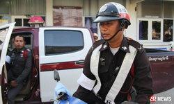 โฉมหน้า ดาบตำรวจที่ชาวเน็ตพูดถึง ภาพออกใบสั่งให้รถตราโล่