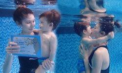 ซาร่าปลื้ม! น้องแม็กเวลล์ เรียนจบคอร์สว่ายน้ำ