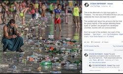 """เพจอนุรักษ์โพสต์รูปขยะแฉ """"ฟูลมูนปาร์ตี้"""" ทำหาดสกปรก คนร่วมโบ้ยอ้างคนท้องถิ่นทิ้ง"""