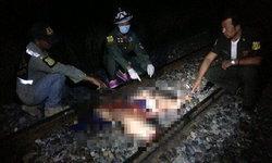 สาวใหญ่ฆ่าตัวตายครั้งที่ 13 เดินให้รถไฟทับดับสยอง