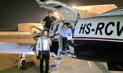 """""""เสี่ยหนู"""" จิตอาสา ขับเครื่องบินส่วนตัว รับส่งหัวใจ กรุงเทพฯ-ขอนแก่น ให้แพทยรพ.จุฬาฯ"""
