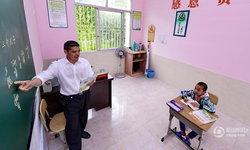 ความรู้ไม่มีสิ้นสุด โรงเรียนเมืองจีน มีแค่ครู-นักเรียนคนเดียว