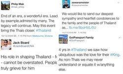 ชาวต่างชาติทั่วโลกร่วมแสดงความเสียใจผ่านทางทวิตเตอร์