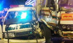 รถฉุกเฉิน-กู้ภัย เฉี่ยวชนสิบล้อสยอง 2 เหตุการณ์ซ้อน