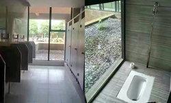 ทะลุปรุโปร่ง! มหาวิทยาลัยจีนสร้างห้องน้ำแนวใหม่ ผนังกระจกใสแจ๋ว