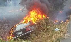 คืบหน้ารถเบนซ์ตกร่องถนน 304 ไฟลุก เสียชีวิตอีก 1 รวม 4
