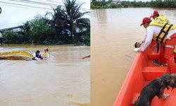 กู้ภัยเผยนาทีชีวิต ชาวบ้านถูกน้ำพัดเรือคว่ำ หวิดตายหมู่