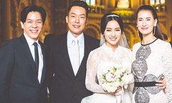 แอน ทองประสม แต่งตัวสวย ควงคู่ไปงานแต่งน้องชาย เอ ทินพันธ์