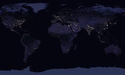 นาซาเผยภาพโลกทั้งใบยามค่ำคืน ไฟระยิบระยับจากเมืองใหญ่