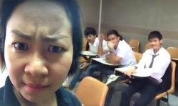 อาจารย์สายฮา..ถ่ายคลิปด่านักศึกษาเข้าเรียนสาย