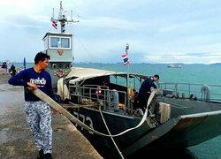 เกาะล้านพัทยาขาดน้ำทัพเรือภาค1ส่งน้ำช่วยแล้ว