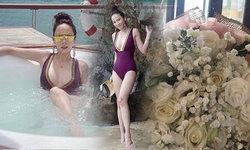 อั้ม จัดเต็มชุดว่ายน้ำแหวกอก พร้อมอวดช่อดอกไม้กับแคปชั่น..รักนะ ?