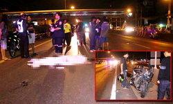 บิ๊กไบค์คว่ำดับ 2 ศพ ตำรวจเปิดกล้องดูพบขับชนล้มเอง ไม่มีเก๋งไล่ชน