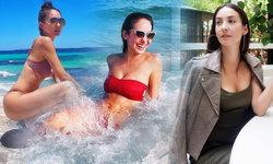 """สวย..เป๊ะเหมือนเดิม """"โอซา แวง"""" อวดหุ่นฟิตเล่นน้ำทะเล"""
