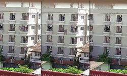 หนุ่มพิลึกสกิลสูง ปีนป่ายตึกหอพักเซียนแบบสไปเดอร์แมน