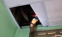 หนุ่มเสพยา ตกใจ! หนีตำรวจขึ้นฝ้าเพดาน กลัวติดคุก