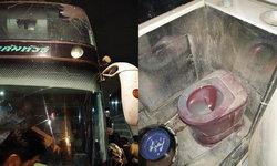 ขนส่งแจง รถทัวร์ห้องน้ำสกปรก-กระจกร้าว เป็นรถเสริม สั่งลงโทษผู้ประกอบการแล้ว
