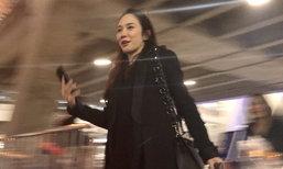 อั้ม พัชราภา มีเหวอ กลับจากญี่ปุ่น เจอแฟนคลับมารอที่สนามบิน