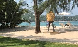 ชาวพุทธตั้งคำถาม เศียรพระพุทธรูป ตัดมาวางโชว์รีสอร์ทเกาะสมุย