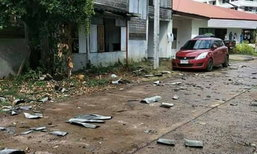 พายุฤดูร้อนถล่มอุบลฯ บ้านเรือนเสียหายกว่า 100 หลัง