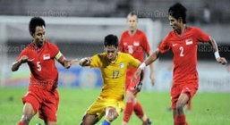 ผลบอล บอลไทยบู่แพ้สิงคโปร์คาบ้าน 0-1