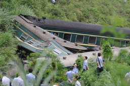 รถไฟหรูตกรางในรัสเซีย เสียชีวิต 25 บาดเจ็บ 63 คน