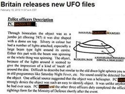 อังกฤษเผยข้อมูลลับพบจานบินจากนอกโลกหลายร้อยครั้ง