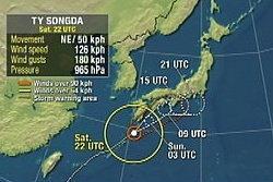 """ไต้ฝุ่น """"ซงดา"""" ถล่มซ้ำพื้นที่ภัยพิบัติญี่ปุ่น"""