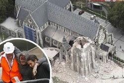 แผ่นดินเขย่ากีวี ตาย 65 สูญหายกว่า 300 ราย