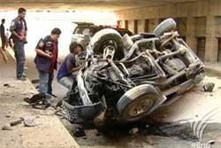 อุบัติเหตุขับรถตกอุโมงค์ ดับ 1 เจ็บ 2