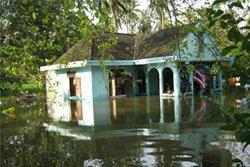 น้ำท่วมนนทบุรี สวนทุเรียนพินาศจมบาดาล