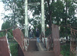 สั่งงดใช้สะพานแขวนปราจีนบุรี ชำรุด 2 แห่ง