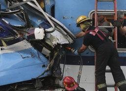 รถไฟชนกันก่อนถึงสถานีอาร์เจนตินาดับ1ศพ