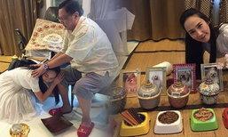 อั้ม พัชราภา ฉลองสงกรานต์กับครอบครัว ทำบุญให้หมาแสนรัก