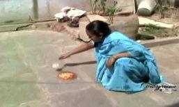 """อินเดีย ร้อนแชมป์โลก! จน """"ทอดไข่"""" บนพื้นได้"""