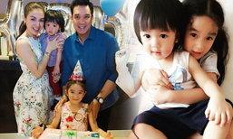"""ภาพครอบครัวสุขสันต์ """"น้องณดา"""" ฉลองวันเกิด 5 ขวบแล้ว"""