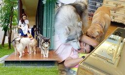 ทำความคุ้นเคย เจเข้าบ้านเมย์ เล่นกับน้องหมา