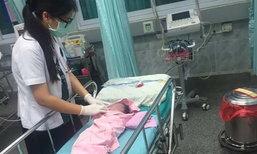 แม่คลอดแล้วทิ้งลูกริมถนน สาวประเภทสองหัวใจนางฟ้านำส่งโรงพยาบาล