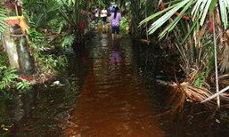 """ชาวบ้านวิจารณ์หึ่ง น้ำท่วม """"ป่าคำชะโนด"""" กระทบความเชื่อเกาะลอย"""
