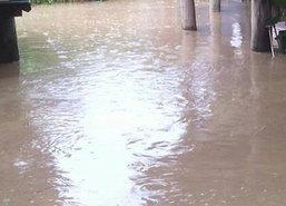ฝนตกเกาะสมุยทำน้ำท่วมขังสูงกว่า30ซม.