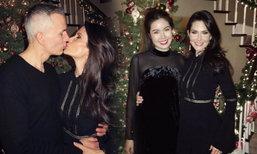 เก็บตกภาพหวานคืนคริสต์มาสจากอเมริกาของ จีน่า และ เจด้า
