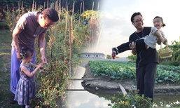 """ความสุขของ """"เสี่ยตา ปัญญา"""" แปลงที่ดินเป็นสวนผักให้หลานเรียนรู้วิถีเกษตร"""