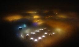 จีนเจอหมอกควันอีกครั้ง เทียนจินเป็นราวเมืองภาพลวงตา