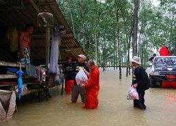 ชาวพัทลุงอ่วมจากภาวะน้ำท่วม-ต้องการน้ำดื่มสะอาด