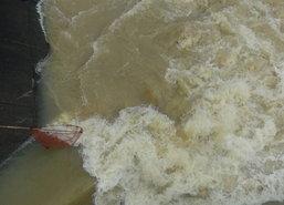 สตูลฝนหนัก-ระดับน้ำฝายดุสนมีสีขุ่นใกล้ระดับระวังภัย