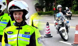 """เหวินโจวเปิดตัว """"ตำรวจหญิงสุดสวย"""" ตำแหน่งเคลื่อนที่เร็ว"""